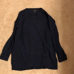 navy jcrew sweater